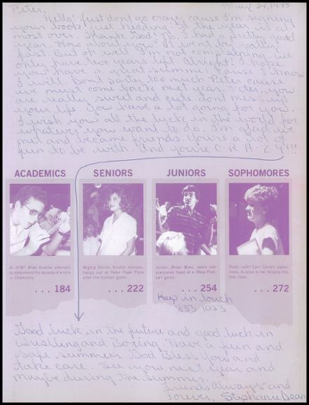 1985 Mesa High School Yearbook Page 3