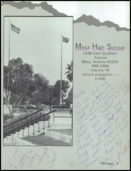 1985 Mesa High School Yearbook Page 5