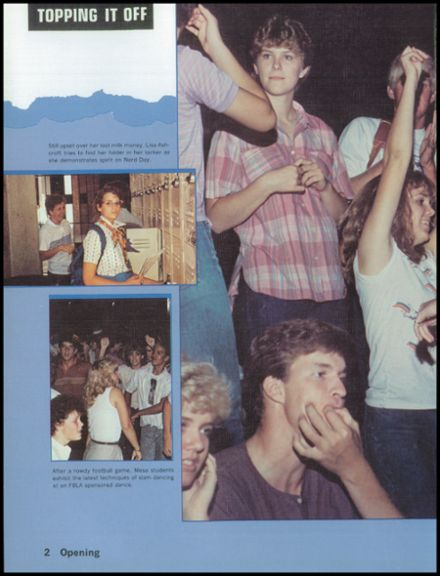 1985 Mesa High School Yearbook Page 6