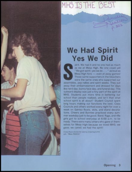 1985 Mesa High School Yearbook Page 7