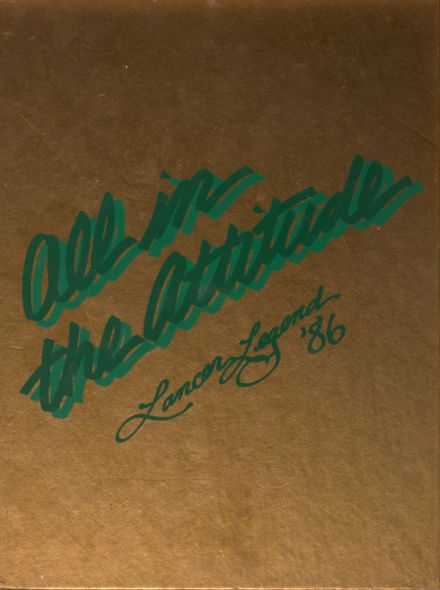 1986 Thousand Oaks High School Yearbook Cover