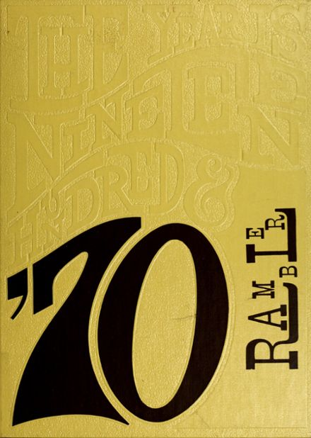 1970 Montrose High School Yearbook Cover