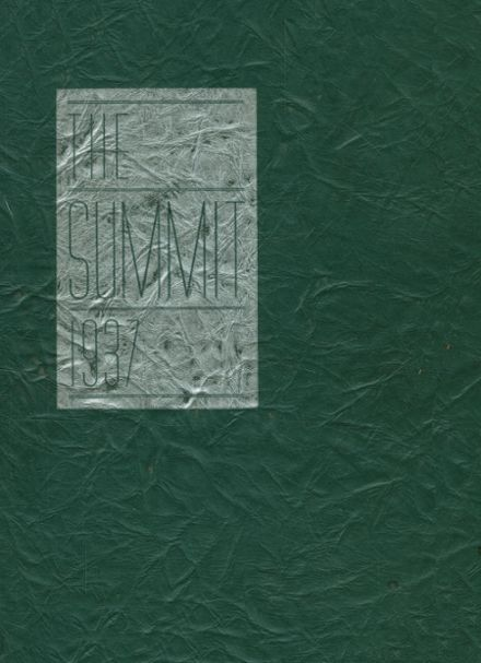 1937 Chester High School Yearbook Cover