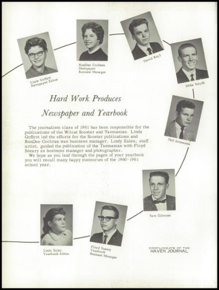 1961 Haven High School Yearbook Page 6
